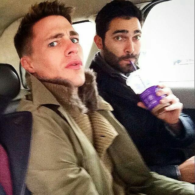 Colton Haynes and Tyler Hoechlin. Happy birthday Tyler!