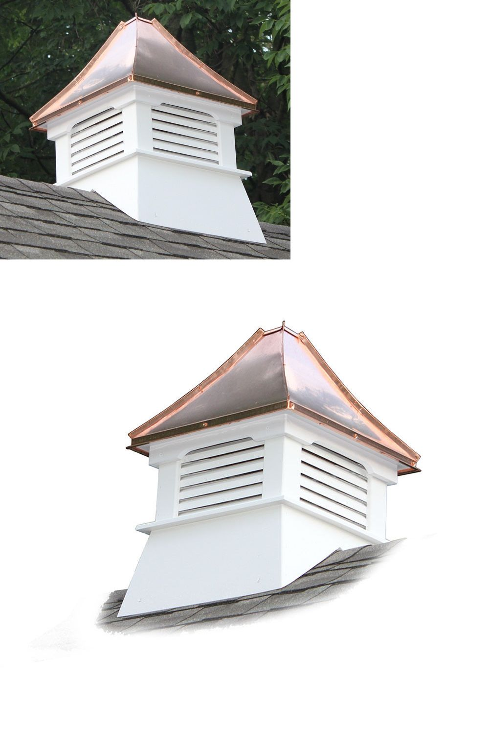 Amazing Buy Cupola #6: Weathervanes 20512: Accentua Nantucket Vinyl Cupola With Copper Roof, 20  In. Square,