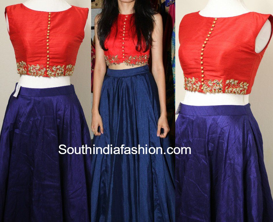 Party Wear Long Skirt And Crop Top South India Fashion Long Skirt And Top Indian Gowns Dresses Skirt Design