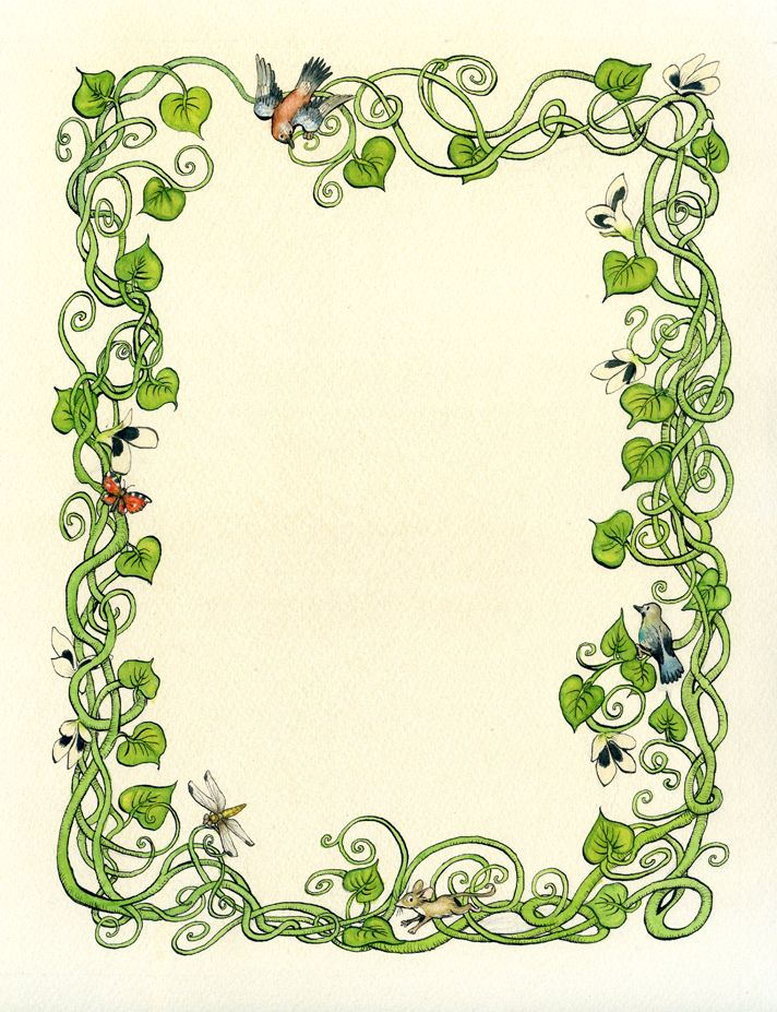 nature page borders Google Search clip art 2 Pinterest