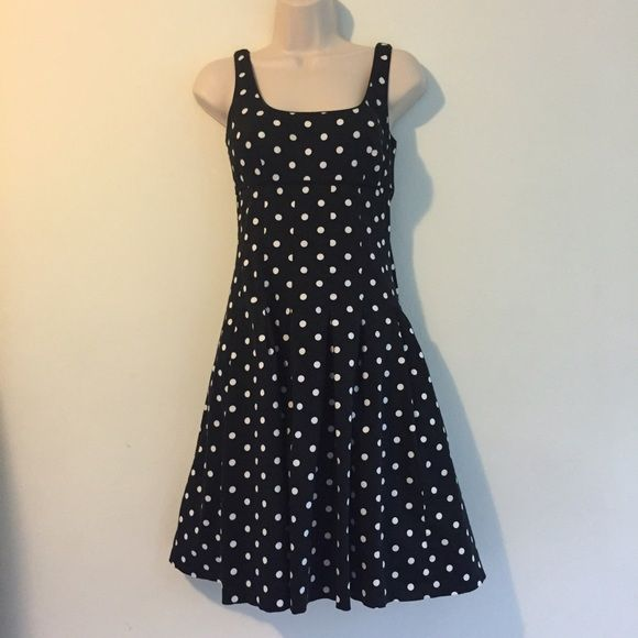 Vintage Ralph Lauren Polka Dot Dress Stunning flare black-and-white polkadot dress from Ralph Lauren, vintage and gorgeous. Slightly sticky zipper because it is a vintage piece but still zips all the way up. Ralph Lauren Dresses