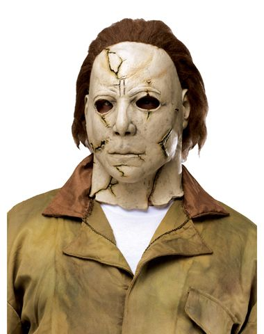 Michael Myers Mask On A Mannequin Behind The Shower Curtain