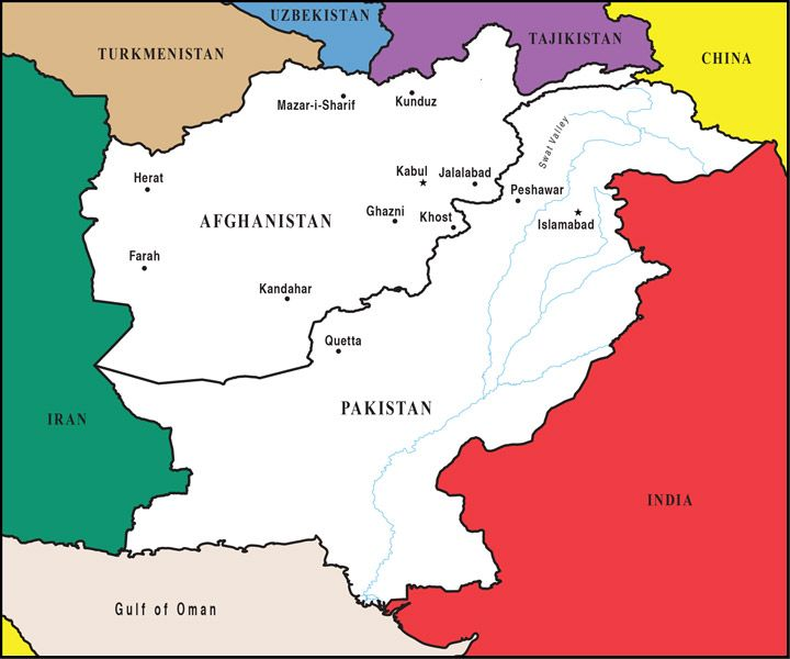 PASHTO Is Spoken In Afghanistan And Western Pakistan - Pakistan language map