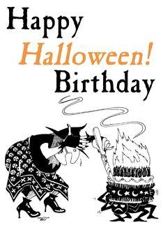 happy halloween birthday greeting card 243650 sendjoe all