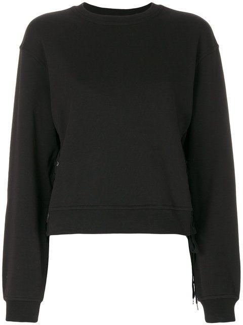 MCQ BY ALEXANDER MCQUEEN eyelets detail sweatshirt. #mcqbyalexandermcqueen #cloth #