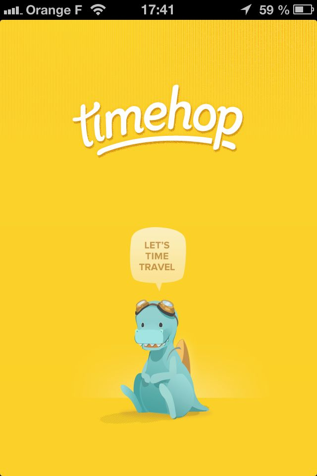 Timehop. i want this app. Let's time travel! I knew my
