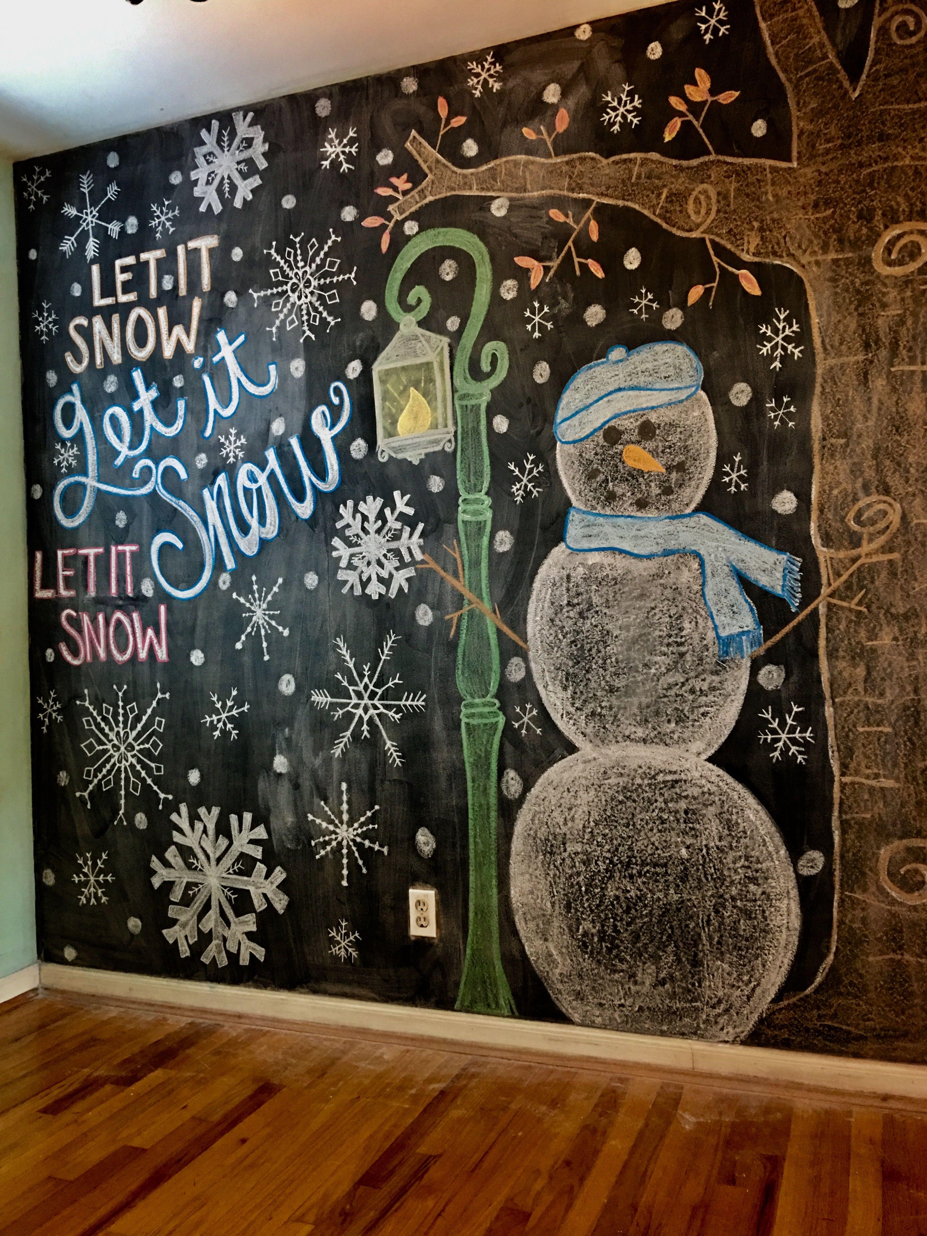 Winter Chalkwall Chalk Wall Art Chalkboard Wall Art Chalkboard Wall Bedroom