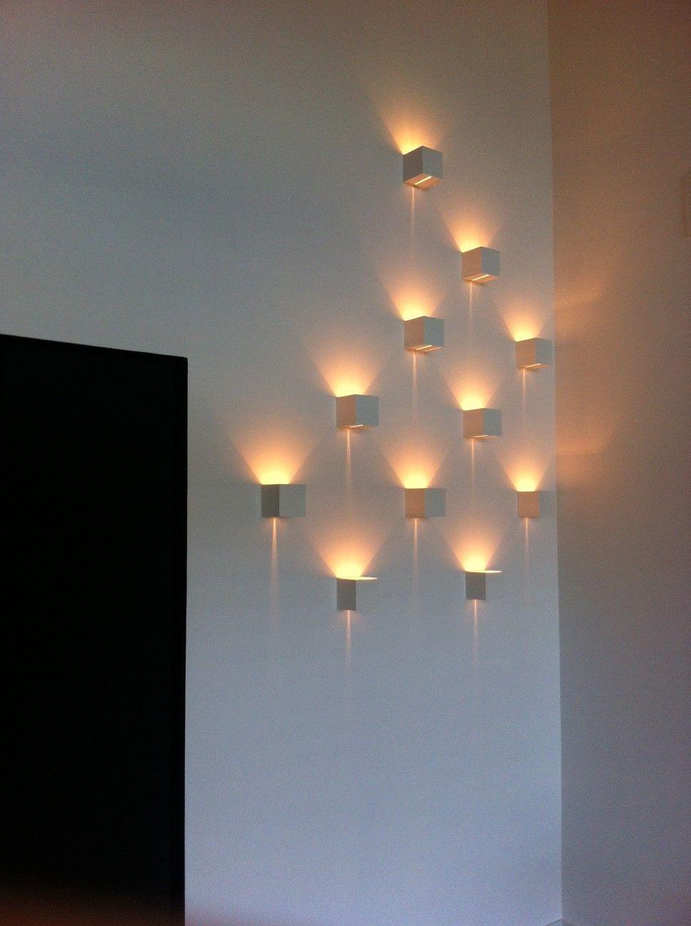 Project Hasselt BE bedrijf Youston #ArchitecturalLighting #design #Prolicht GLORIOUS DICE wall #LED #DARK