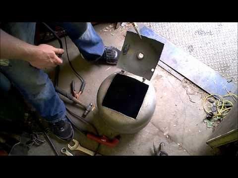 Propane Tank Pot Belly Stove Build Youtube Hp Stove