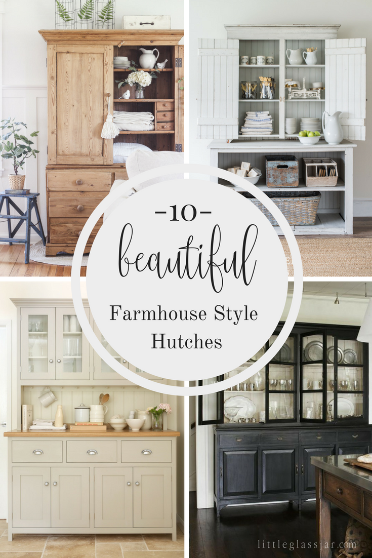 ten beautiful farmhouse style hutches farmhouse style home decor rh pinterest com