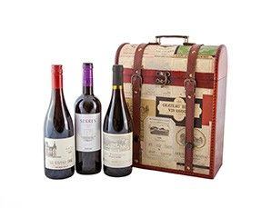 Buy Three Old World Red Wines in a Wine Labels Gift box