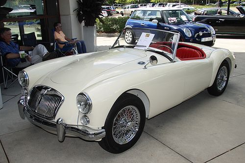 Looks just like the car I learned to drive a 4-speed manual on, when I was eleven. :) 1960 MG A
