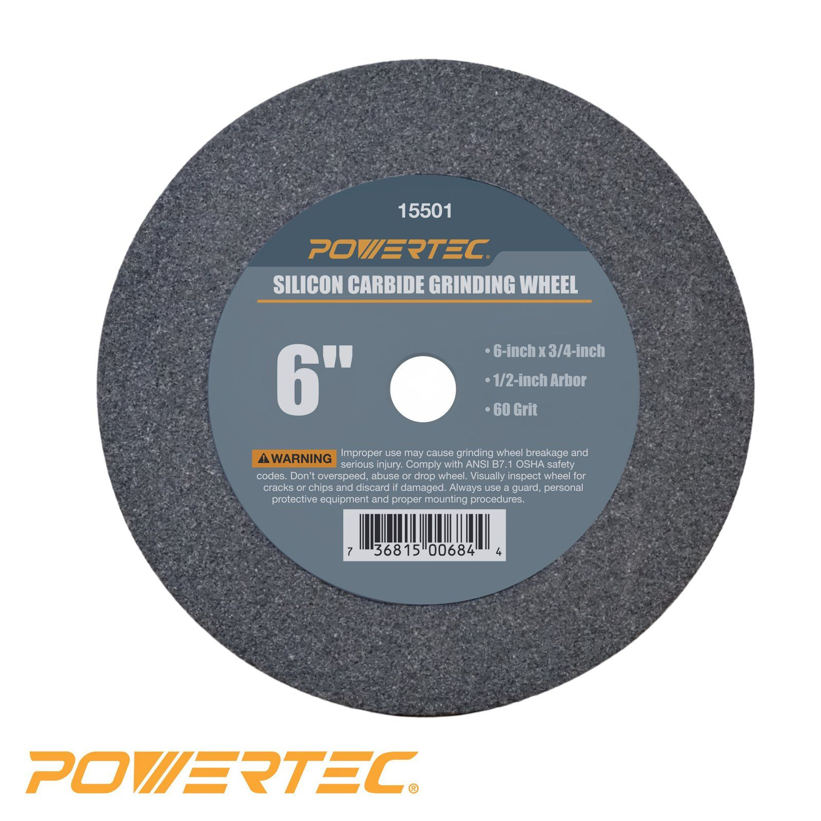 Powertec 15501 1 2 Arbor 60 Grit Silicon Carbide Grinding Wheel 6 By 3 4 Ad Arbor Affiliate Powertec Grit Grindin Silicon Carbide Job Shop Grind