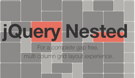 jQuery Nested - gapless item layout plugin  | Sliders, Galleries