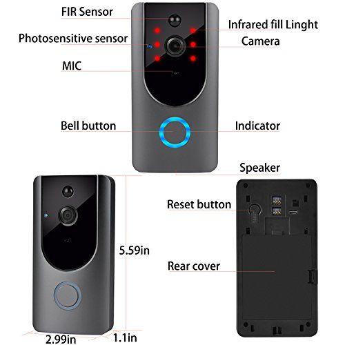 Wireless Doorbell, Smart Door Bells Home Security Bell ...