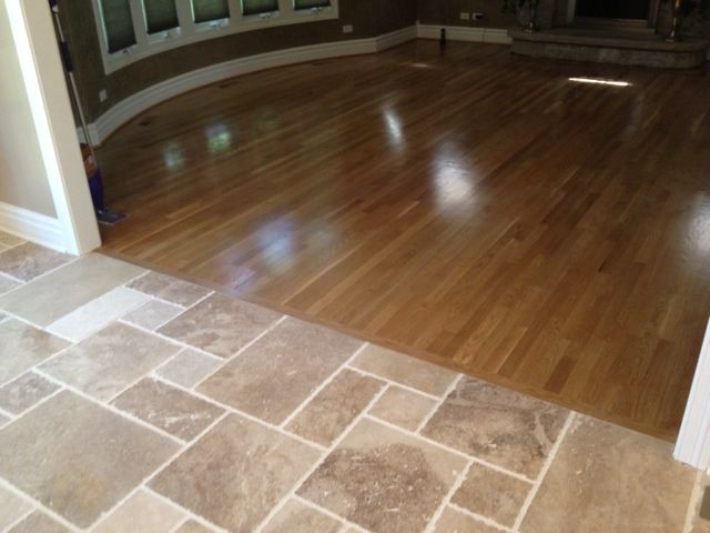 Beautiful Wood Floor Butted Up To Travertine Flooring Beautiful Wood Wood Floors