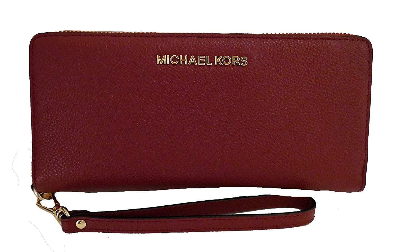 Michael kors jet set travel continental zip around leather