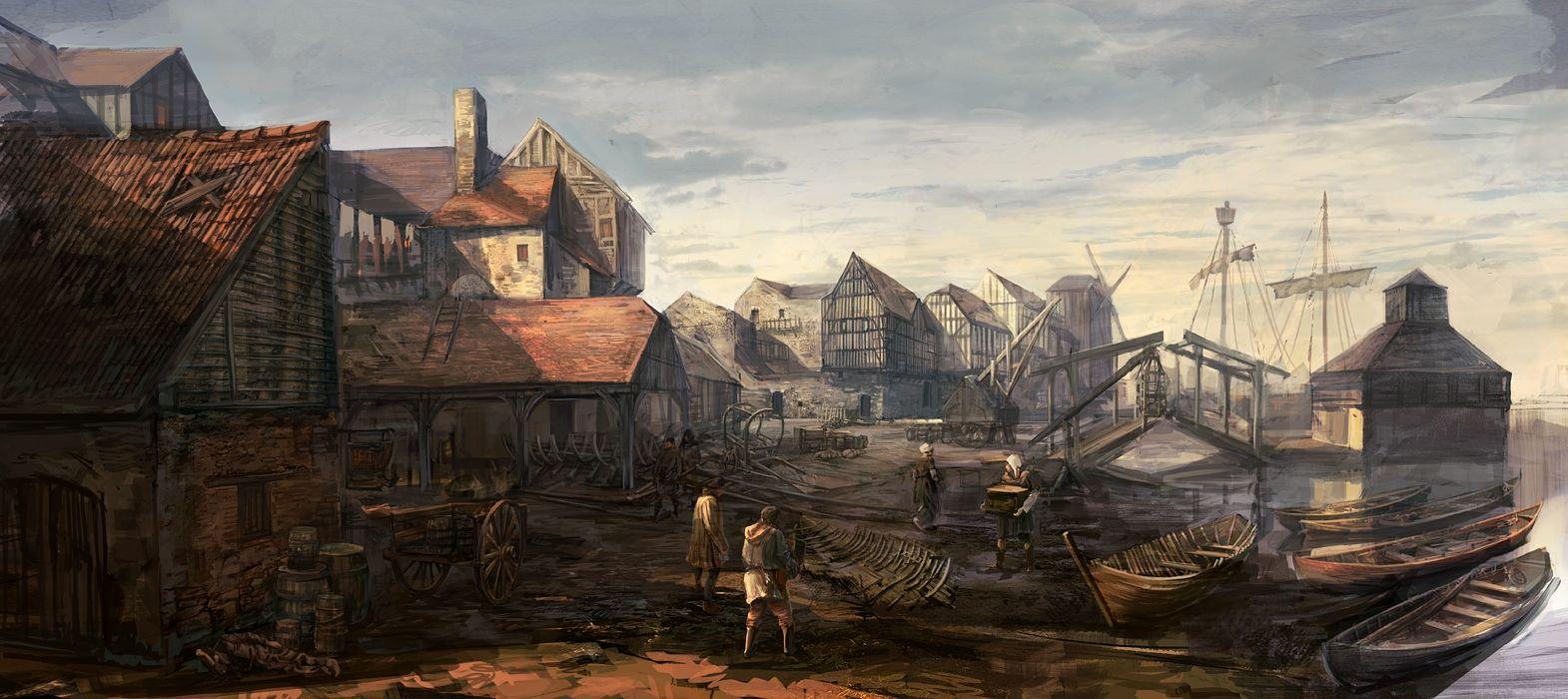 medieval city concept art - Pesquisa Google | Landscape ...
