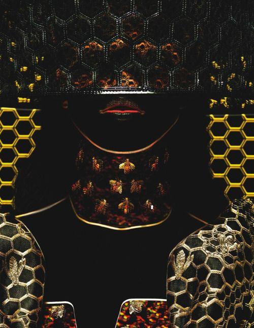 Photo of Julia Frauche, in Alexander McQueen, by Warren Du Preez &  Thornton Jones for Numéro