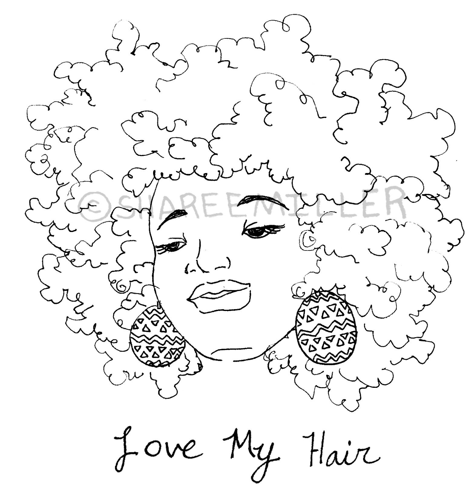 Coily And Cute Awesome Afro