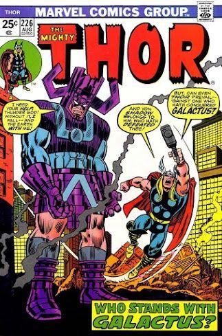Thor #226 (Aug '74) cover by John Romita & Frank Giacoia.