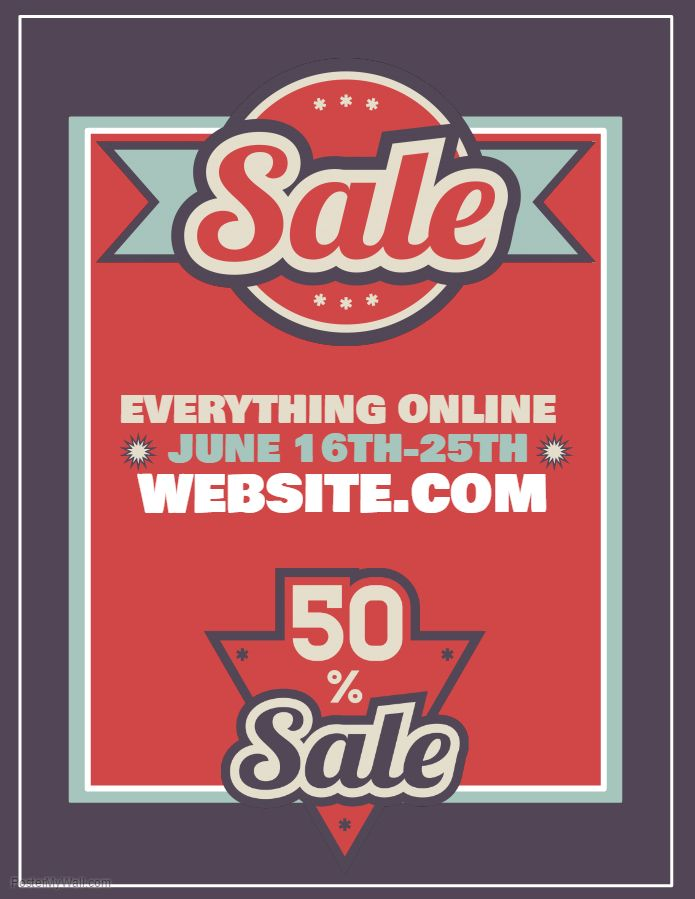 Discount Sale Flyer Click On The Image To Customize In PosterMyWall