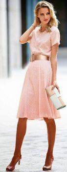 wear with a rose quartz color dress
