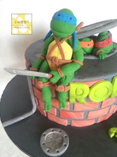 Craftsy Com Express Your Creativity Ninja Turtle Cake Tmnt Cake Ninja Turtle Cake Topper