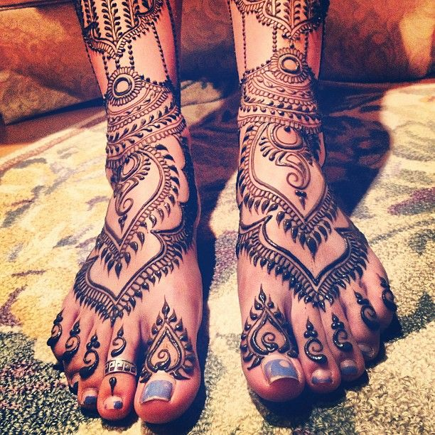 40 Attractive Foot Tattoo Designs: South Asian Wedding Blog