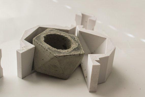 icosa dre planteur moule set 3d moule imprim pour faire vos propres pots r utilisable. Black Bedroom Furniture Sets. Home Design Ideas