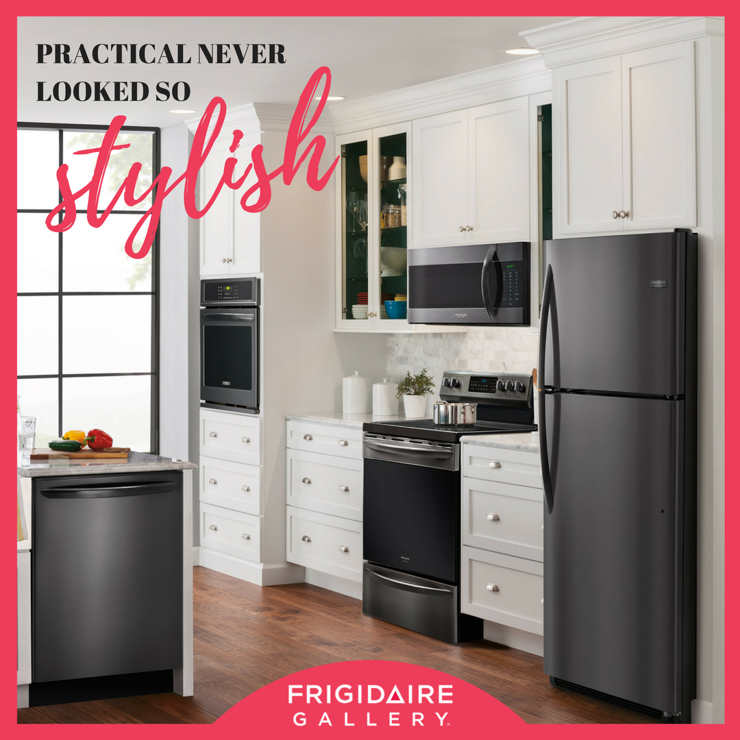 Frigidaire Gallery Just Revealed Their NEW Smudge Proof Black Stainless  Steel Appliances And Theyu0027
