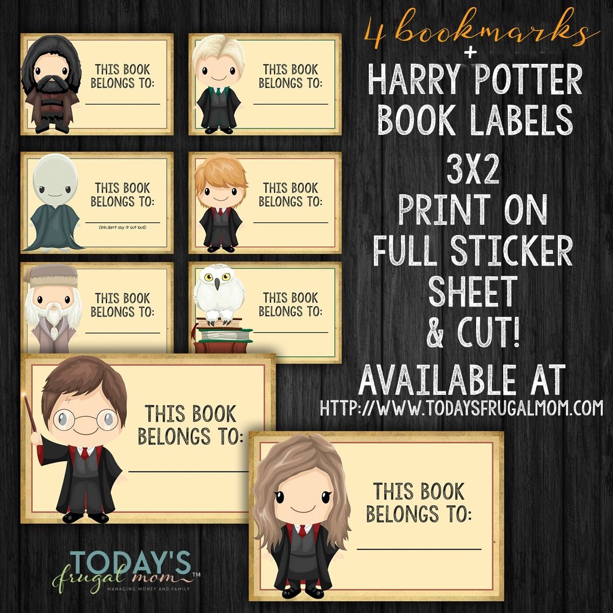 picture regarding Free Printable Harry Potter Bookmarks identified as Printable Harry Potter Bookmarks + Guide Labels Clroom