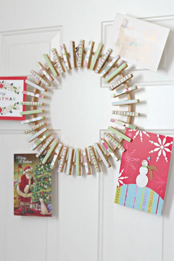 Christmas Card Wreath | Wreaths, Crafty and Craft