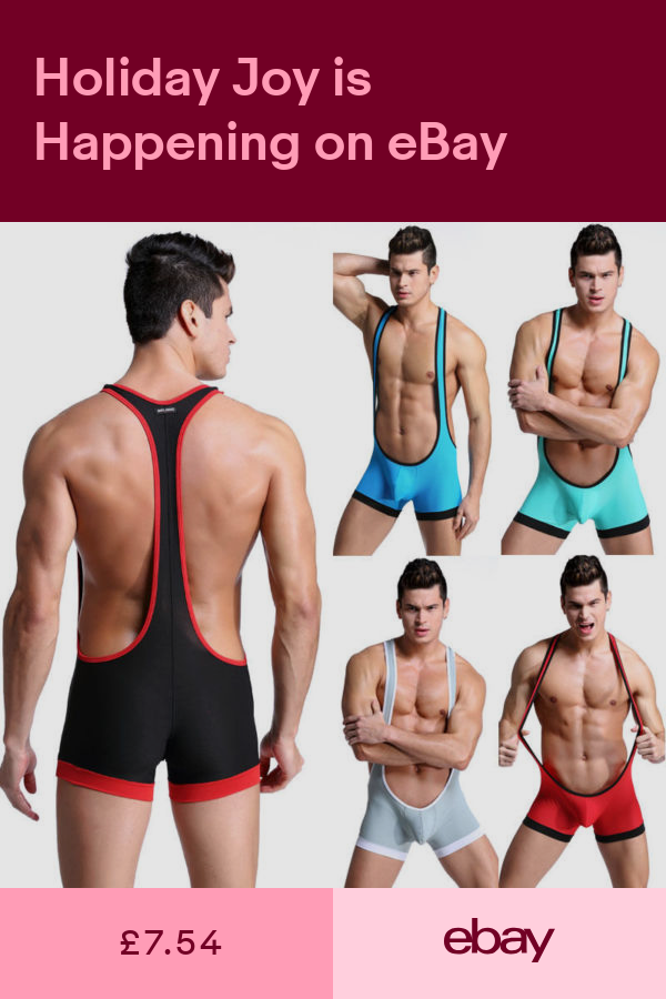 SHANGLY Hommes Wrestling Singlet Bodywear Onesies Lingerie Entra/înement de Gym Collant Bodysuit