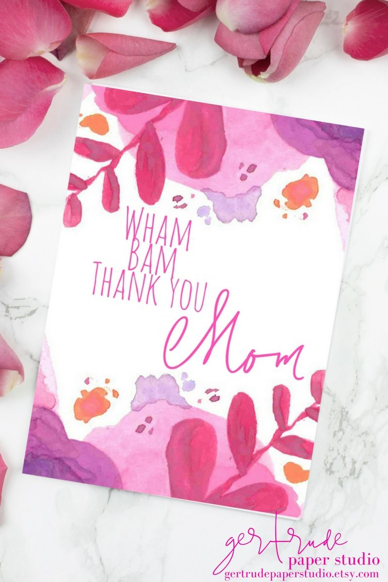 Floral Mothers Day Card Mother Of The Bride Gift Watercolor
