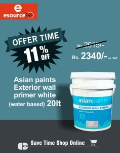 Easy Brushing Excellent Covering Alkali Resistance Quick Drying And Good Sealing Properties Esource365 Asianpaints Pr Wall Primer Asian Paints Time Shop