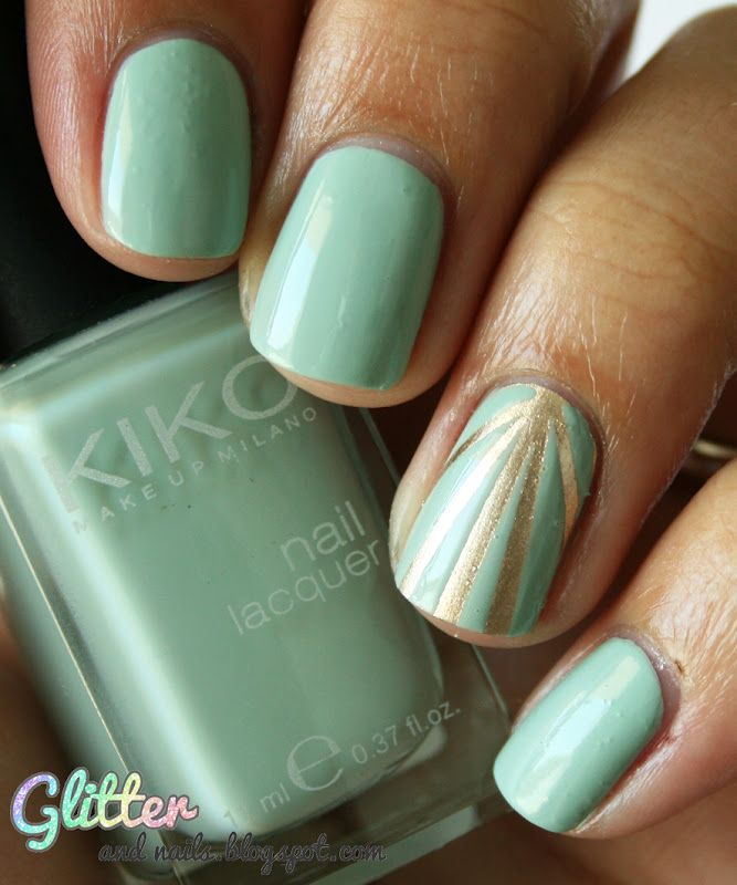 Sunlight & Pastel : Essie Good As Gold + Kiko Jade Green | Estilo