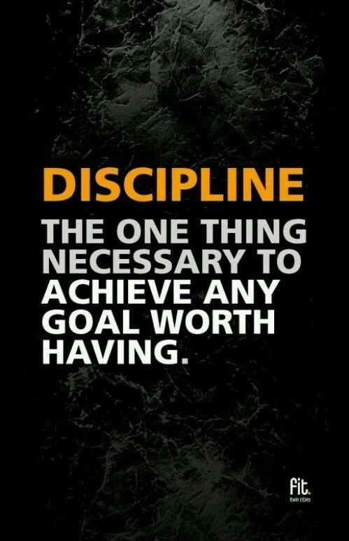 Bon Discipline Is Necessary · Discipline QuotesSelf DisciplineFitness ...