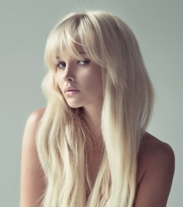 Long blonde hair with bangs google search hair doo pinterest long blonde hair with bangs google search sciox Gallery