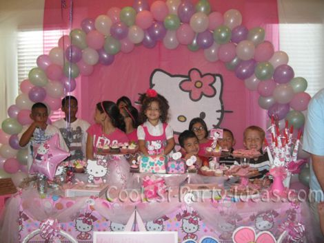 hello kitty pool party birthday cake Coolest Party Planning Ideas
