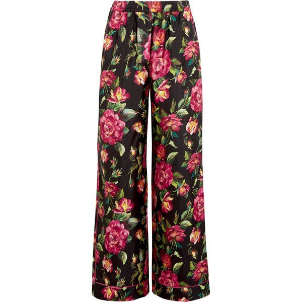 Floral silk twill pants Dolce & Gabbana VzBYLYAGe