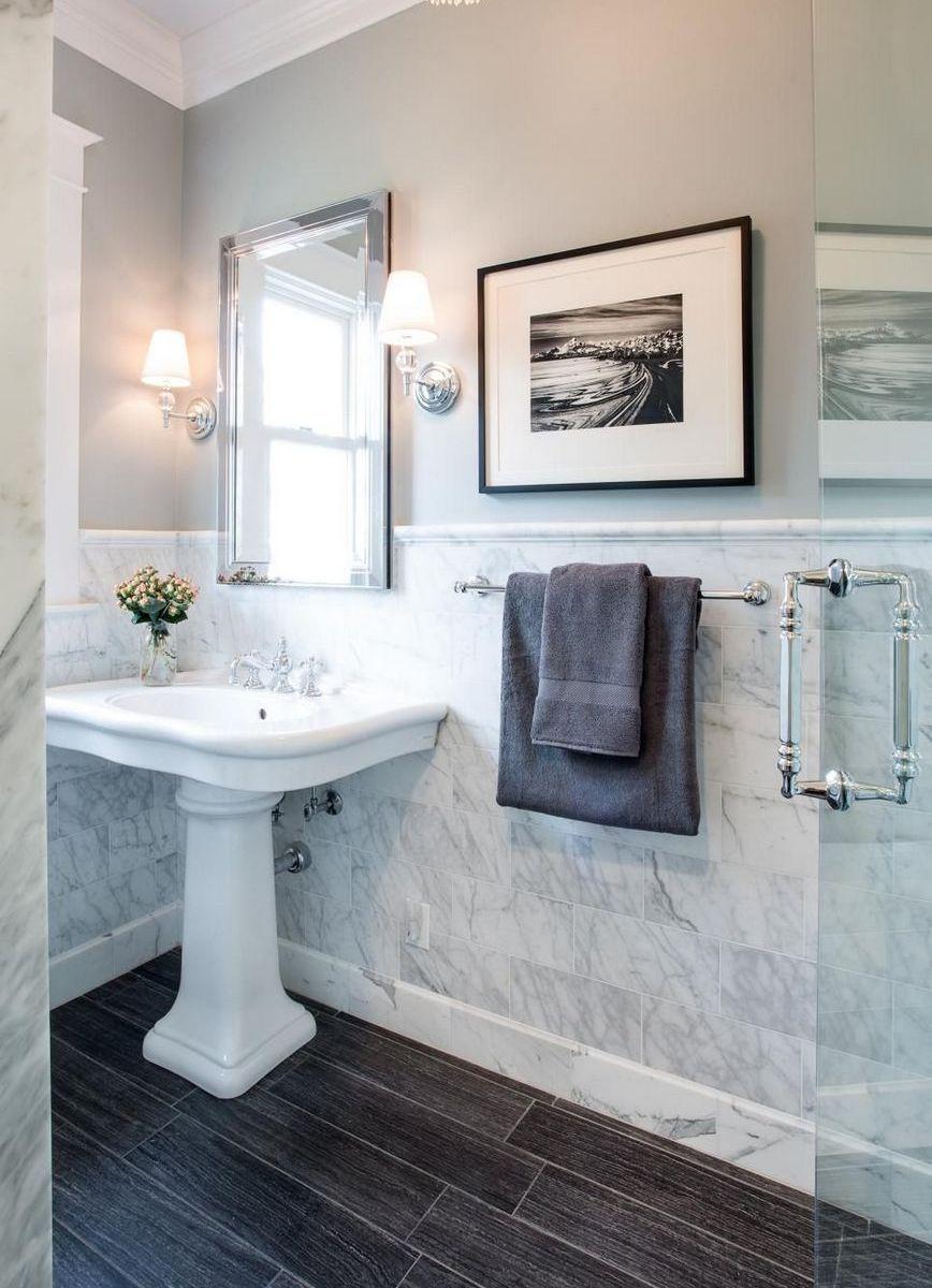 Marble Tile Bathroom Flooring Ideas 29 Upstairsbathrooms Smallcountrybathrooms M Traditional Bathroom Country Bathroom Designs