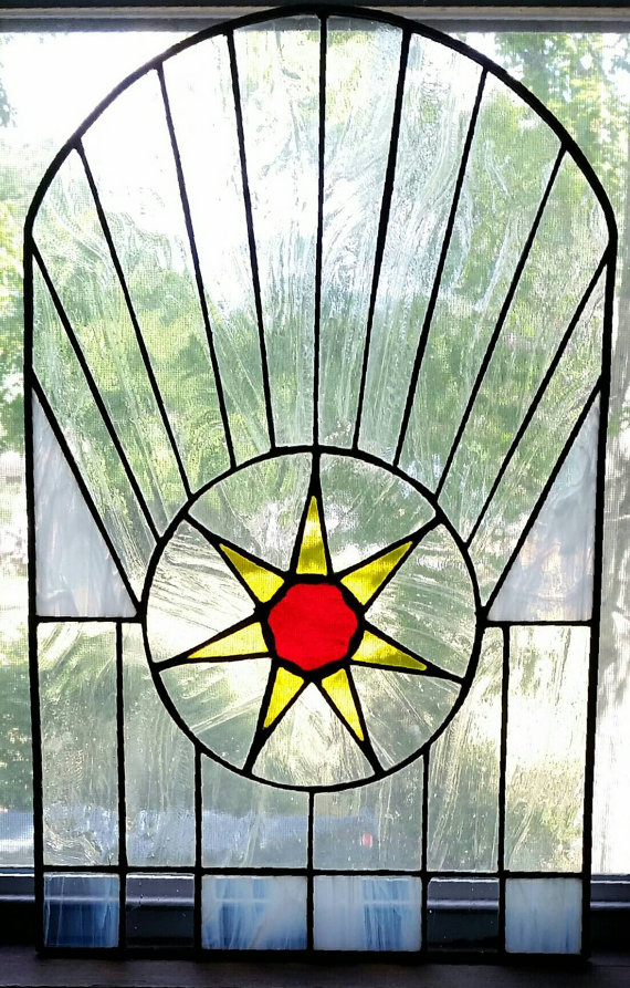 Of Thrones Stained Gl Art Panel Seven Pointed Star Great Hall Red Keep
