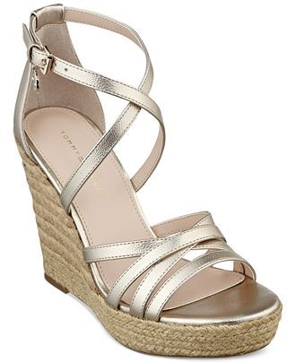 06d329009088 Tommy Hilfiger Women s Venitia Platform Wedge Sandals - Shoes - Macy s