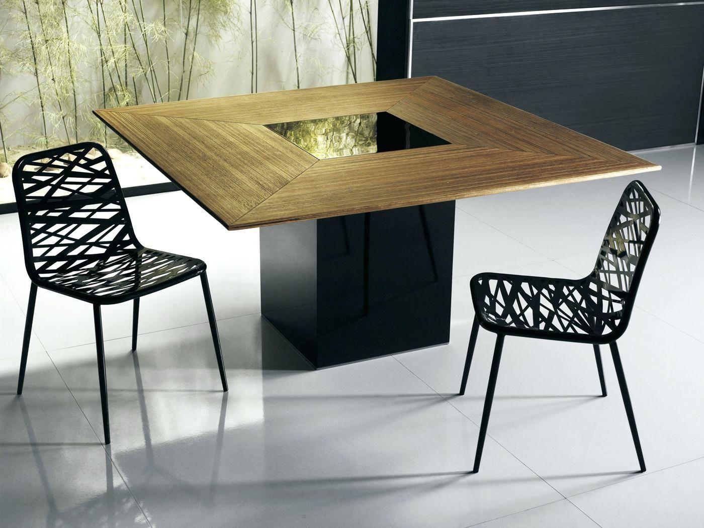 table carree avec rallonge basse