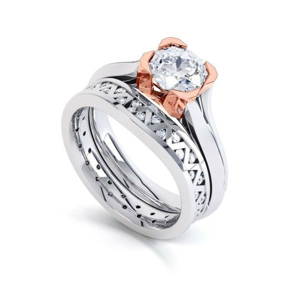 Diamantring verlobung  diamantring verlobung verlobungsring rotgold weißgold Benari ...