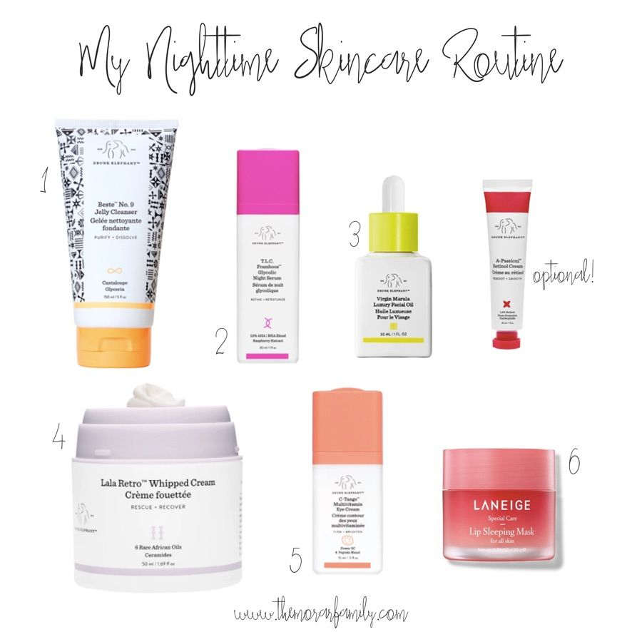 My Current Nighttime Skincare Routine The Morar Family In 2020 Night Time Skin Care Routine Nighttime Skincare Night Skin Care Routine