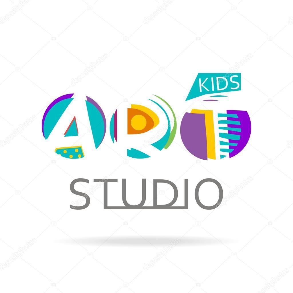Pin By Ning On Logodesign Logo Design Template Kids Art Studio Logo Design