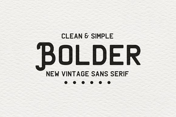 Bolder | clean vintage sans-serif by great19 on @Graphicsauthor