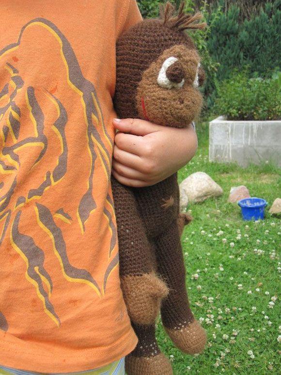 Hakelaffe Zum Geburtstag Affe Hakeln Handgefertigte Spielwaren
